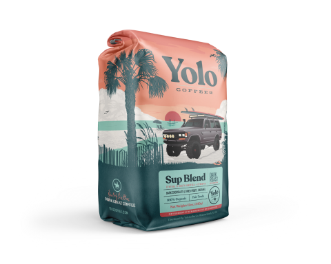 YOLO SUP BLEND ORGANIC DARK ROAST COFFEE 12OZ