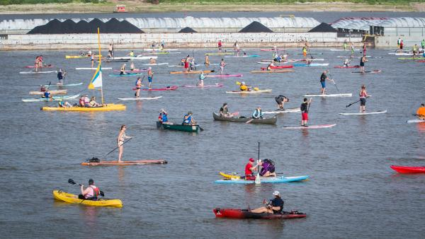 Paddleboard race to take over 13 miles of Mississippi River.