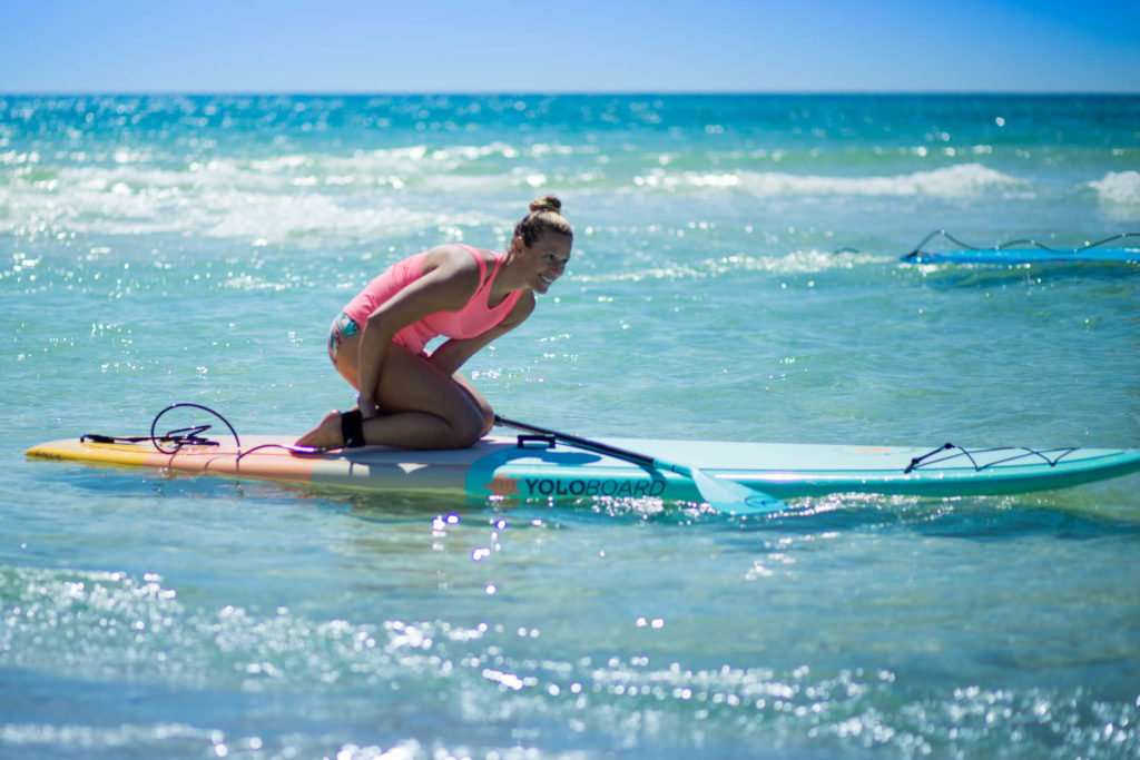 Girl on a Womens Paddle Board